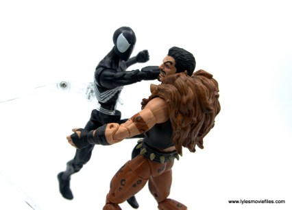 Marvel Legends Kraven and Spider-Man two-pack figure review - spider-man punching kraven