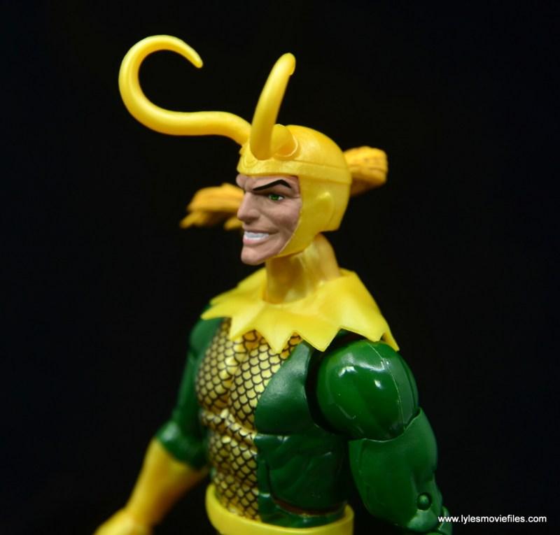 Marvel Legends Loki figure review - helmet detail