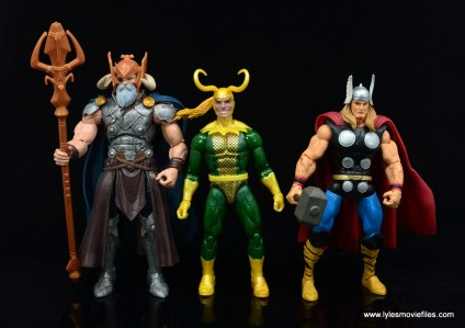 Marvel Legends Loki figure review - scale with odin and thor