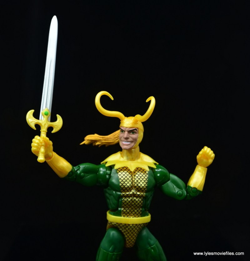 Marvel Legends Loki figure review - sword detail