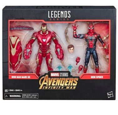Marvel Legends Series Avengers Infinity War 6 Movie-Inspired Iron Man And Iron Spider 2-Pack (SDCC Debut) Target - packaged