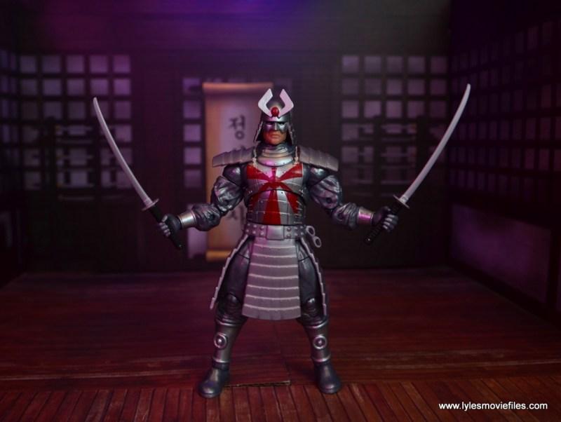 Marvel Legends Silver Samurai figure review - both swords out