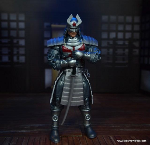 Marvel Legends Silver Samurai figure review - grasping sword