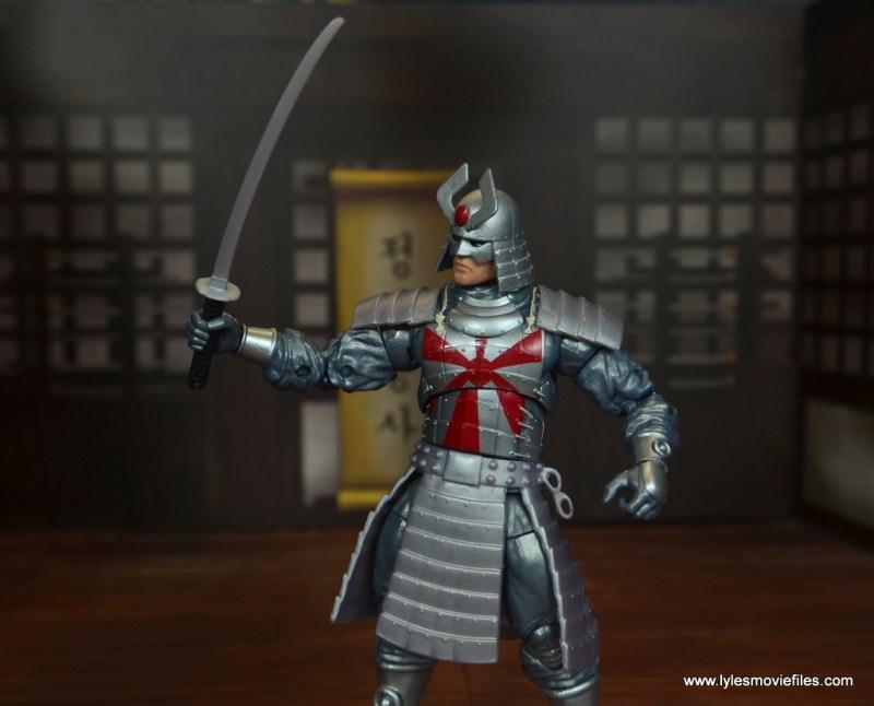 Marvel Legends Silver Samurai figure review - lifting one sword