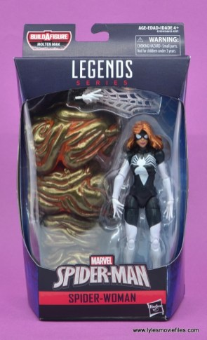 Marvel Legends Spider-Woman figure review - package front