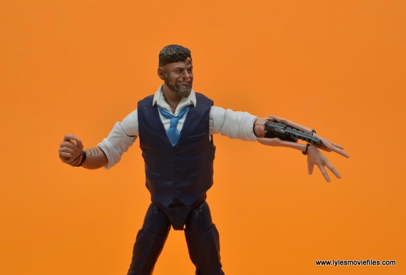 Marvel Legends Ulysses Klaue figure review - aiming arm blaster