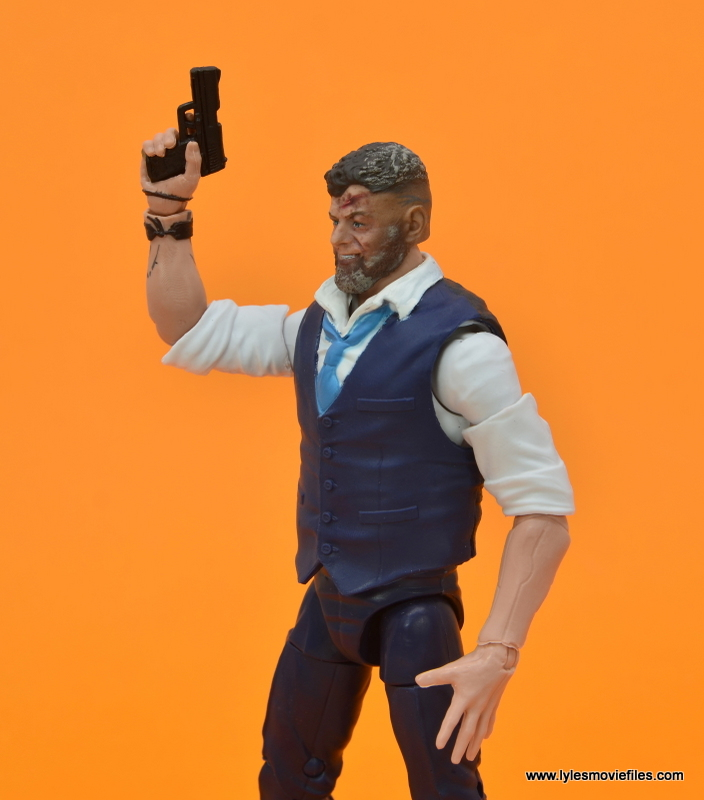 Marvel Legends Ulysses Klaue figure review - lifting pistol