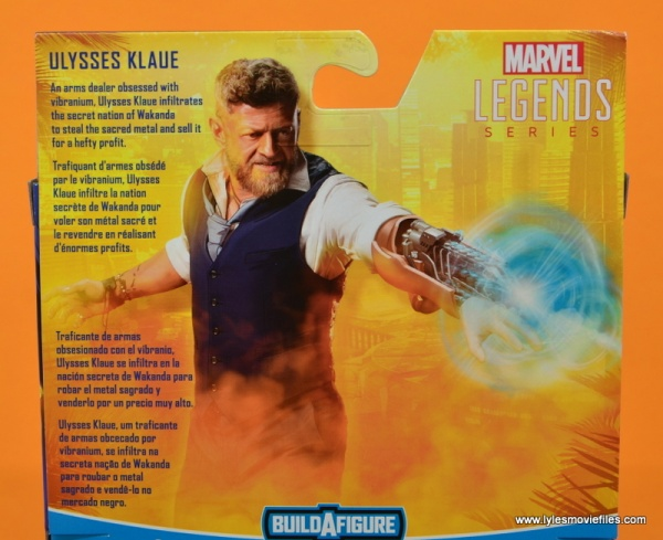 Marvel Legends Ulysses Klaue figure review - package bio