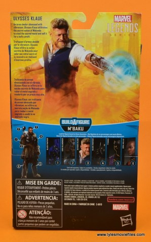 Marvel Legends Ulysses Klaue figure review - package rear