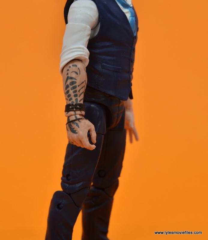 Marvel Legends Ulysses Klaue figure review - tattoo detail