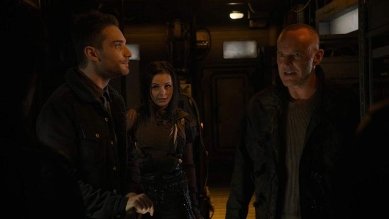 agents of shield collision course part 1 review - deke, snowflake and sarge