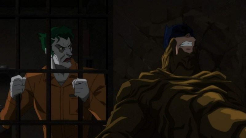 batman hush review - joker watches batman vs clayface