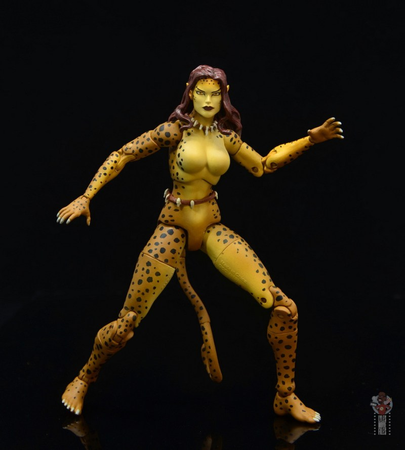 dc essentials cheetah figure review - wide stance