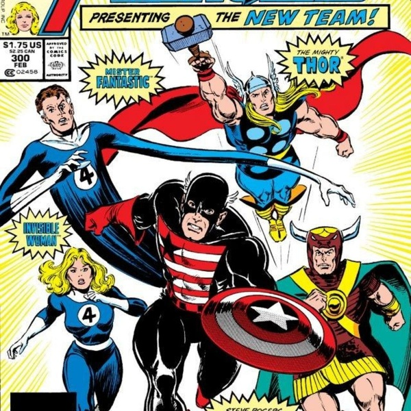 gilgamesh, thor, mister fantastic, invisible woman and captain america as avengers