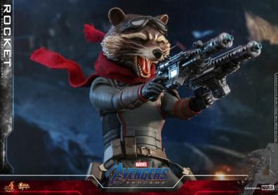 hot toys avengers endgame rocket figure - blasting away