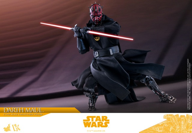 hot toys solo a star wars story darth maul figure - battle stance