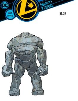 legion of super heroes redesigns - blok