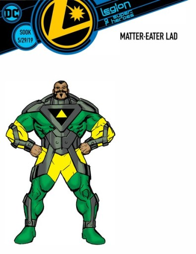 legion of super heroes redesigns - matter-eater lad