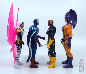 marvel legends citizen v figure review - facing songbird, baron zemo and tiger shark