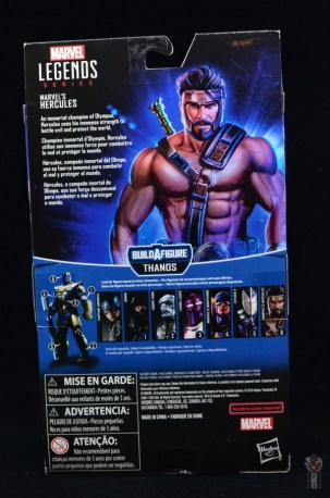 marvel legends hercules figure review - package rear
