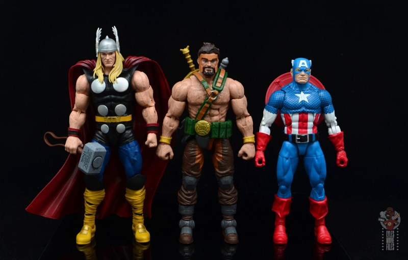 marvel legends hercules figure review - scale with thor and captain america