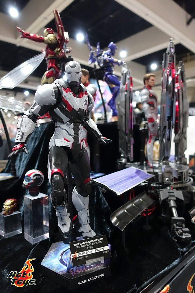 sdcc 2019 hot toys reveals - avengers endgame war machine quantum realm suit