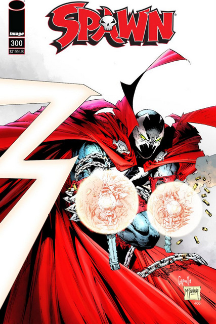 spawn #300 cover -black, red and white variant