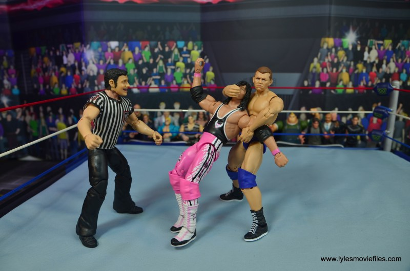wwe elite bob backlund figure review - crossface chicken wing to bret hart