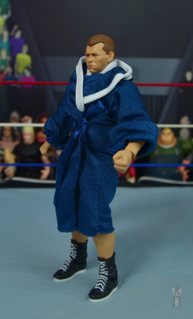 wwe elite bob backlund figure review - robe left side