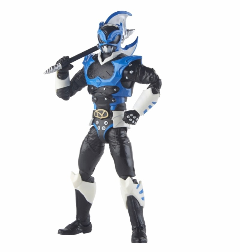 power rangers lightning collection space psycho blue ranger figure - with axe