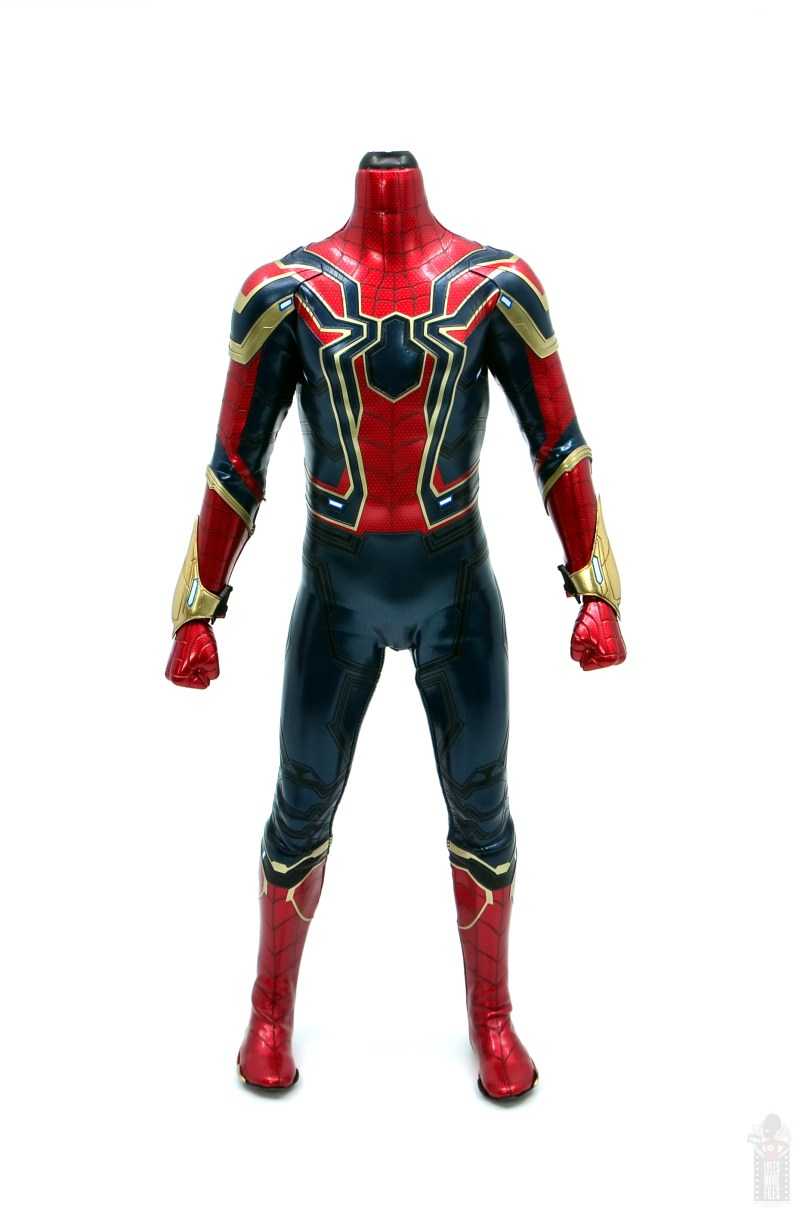 hot toys avengers infinity war iron spider figure review - no head