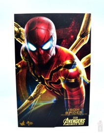 hot toys avengers infinity war iron spider figure review - package front