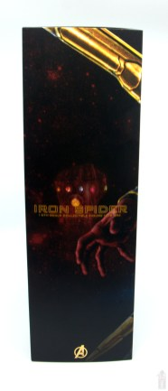 hot toys avengers infinity war iron spider figure review - package left side