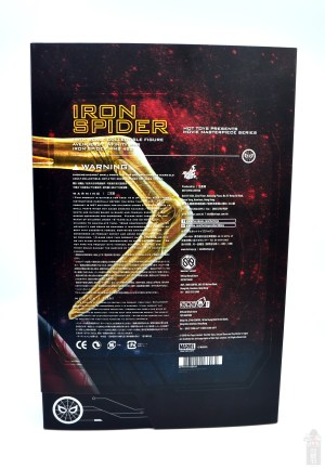 hot toys avengers infinity war iron spider figure review - package rear
