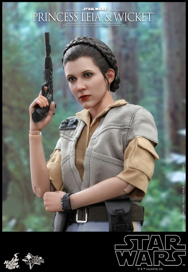 Hot Toys Return Of The Jedi Princess Leia And Wicket Figures