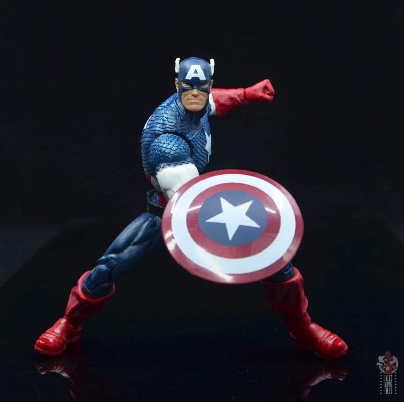 marvel legends captain america figure review 80th anniversary - battle stance