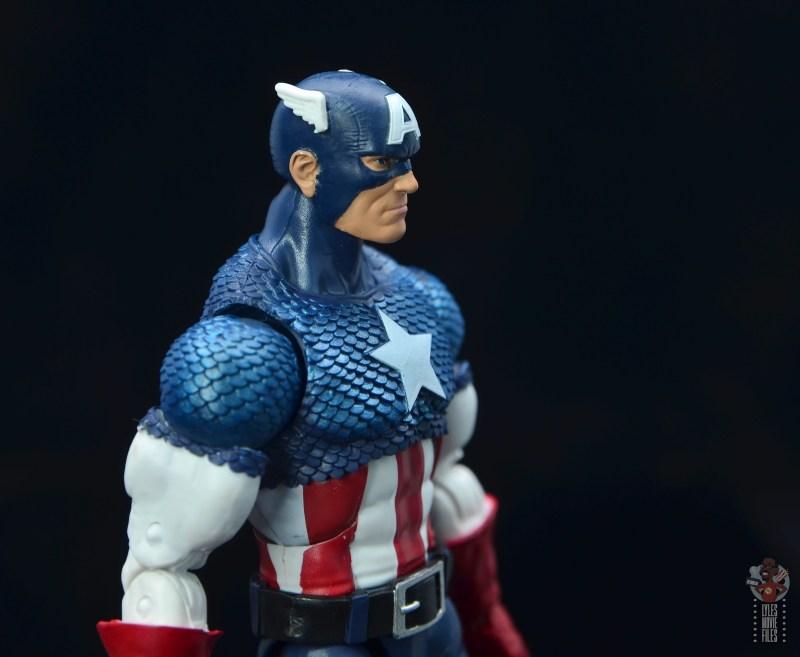 marvel legends captain america figure review 80th anniversary - head sculpt detail