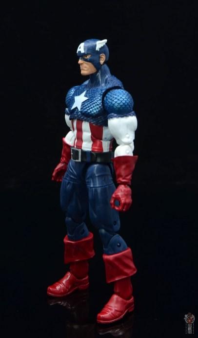 marvel legends captain america figure review 80th anniversary - left side