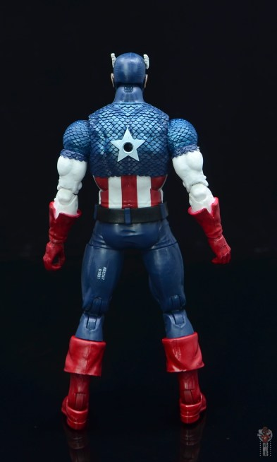 marvel legends captain america figure review 80th anniversary - rear