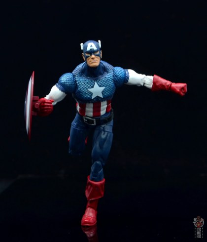 marvel legends captain america figure review 80th anniversary - running