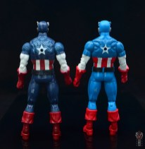 marvel legends captain america figure review 80th anniversary - with vintage captain america rear