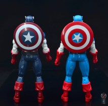 marvel legends captain america figure review 80th anniversary - with vintage captain america shield rear