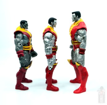 marvel legends colossus and juggernaut figure review 80th anniversary - facing toy biz, marvel select versions