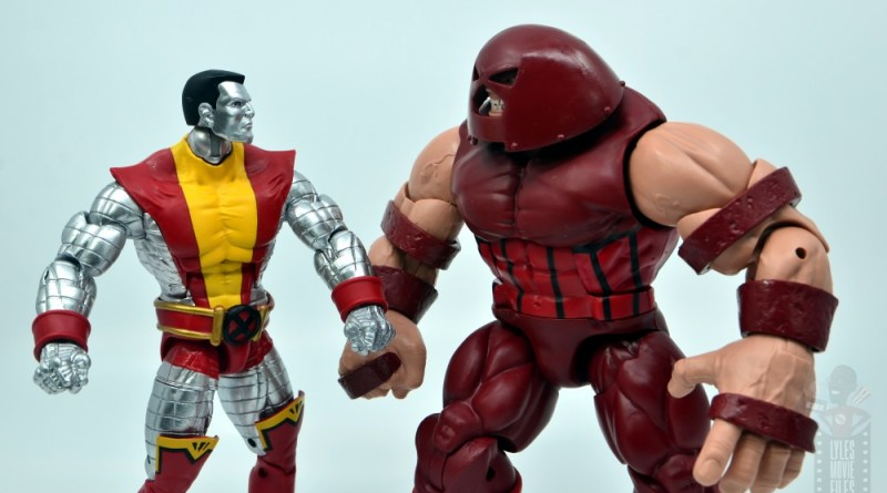 marvel legends colossus vs juggernaut figure review - 80th anniversary - face off main