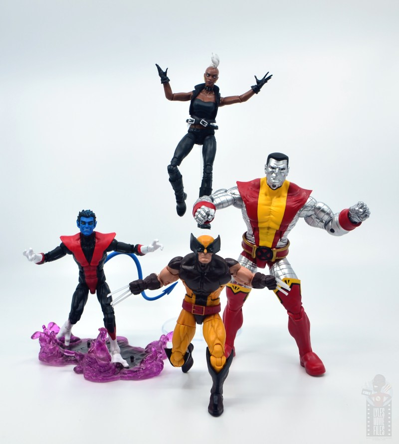 marvel legends colossus vs juggernaut figure review - 80th anniversary - with nightcrawler, storm and wolverine
