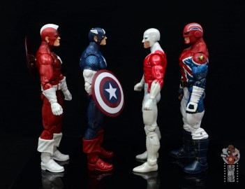marvel legends guardian figure review - facing red guardian, captain america and captain britain