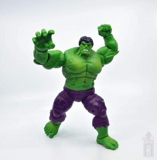 marvel legends hulk vs wolveringe figure review 80th anniversary - hulk charging