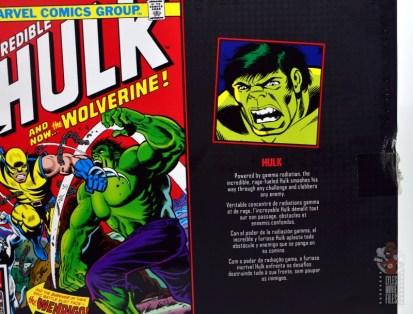 marvel legends hulk vs wolveringe figure review 80th anniversary - package hulk bio