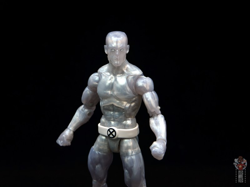 marvel legends iceman figure review -wide shot