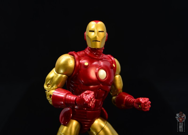 marvel legends iron man 80th anniversary figure review - ross helmet